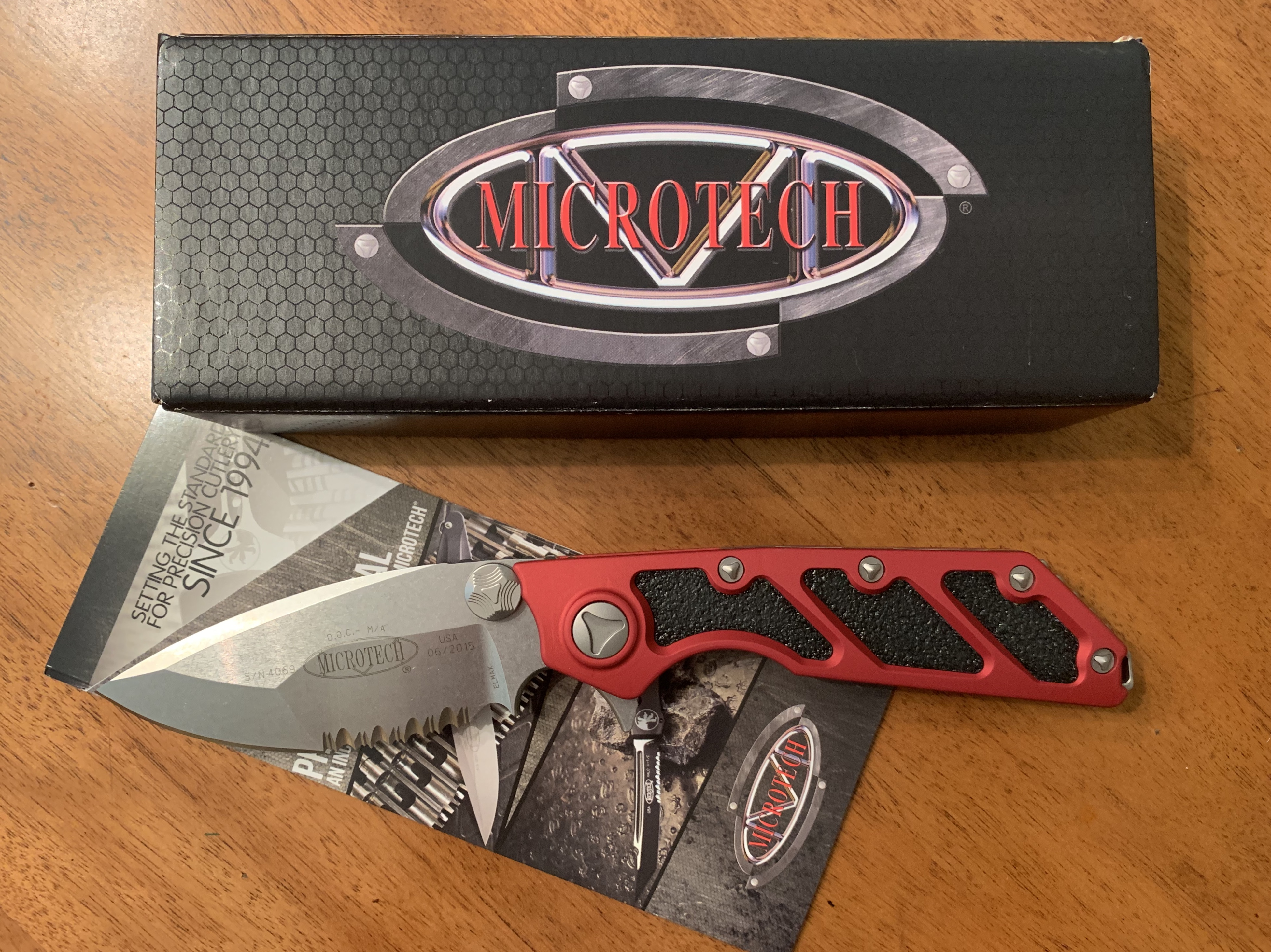 Microtech DOC Red For sale or trade   Springfield XD Forum
